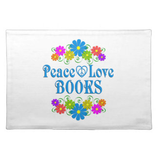 Peace Love Books Placemat