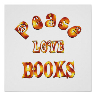 PEACE LOVE BOOKS - Starting at $11.80 Poster