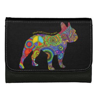 """""""Peace Love & Boston Terriers"""" Pop Art Wallet"""