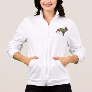 """Peace Love & Boston Terriers"" Womens Jacket"