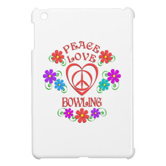 Peace Love Bowling iPad Mini Cover
