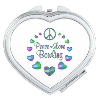 Peace Love Bowling Makeup Mirror