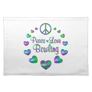 Peace Love Bowling Placemat