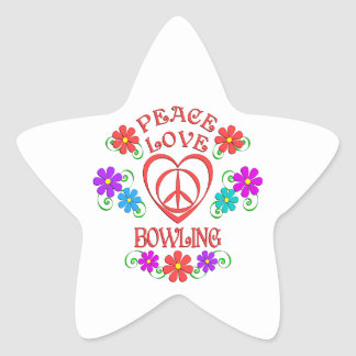 Peace Love Bowling Star Sticker