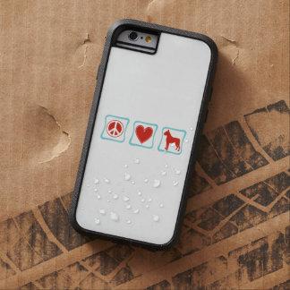 Peace Love Boxers Squares Tough Xtreme iPhone 6 Case