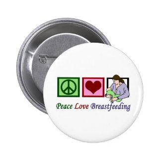 Peace Love Breastfeeding 2 Inch Round Button