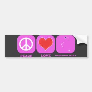 Peace Love British Virgin Islands Bumper Sticker