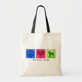Peace Love Brussels Tote Bag