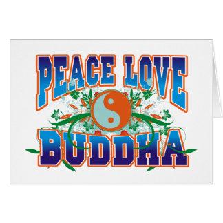Peace Love Buddha Card