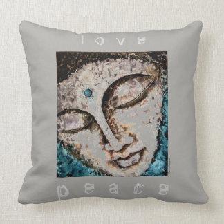 Peace Love Buddha Watercolor Art Pillow Lg 20x20