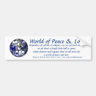 Peace & Love - Bumper Sticker
