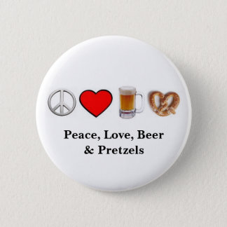 Peace, Love... Button
