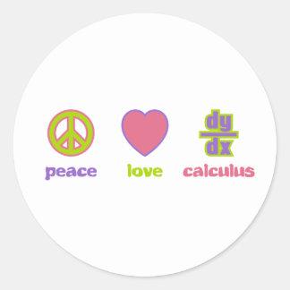 Peace, Love & Calculus Stickers