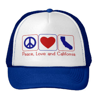 Peace Love California Trucker Hats