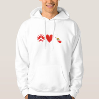 Peace Love California Hoodie