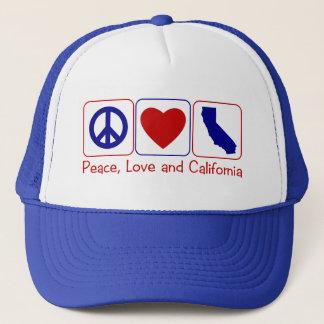 Peace Love California Trucker Hat