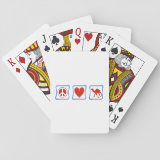Peace Love Camel squares Playing Cards