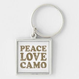 Peace Love Camo Key Chains