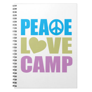 Peace Love Camp Notebooks