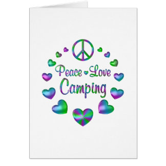 Peace Love Camping Card