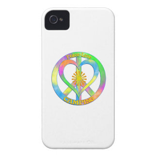 Peace Love Camping iPhone 4 Cover