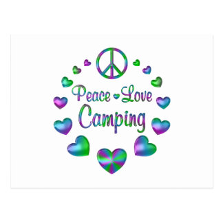 Peace Love Camping Postcard