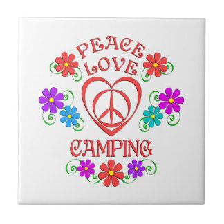 Peace Love Camping Tile