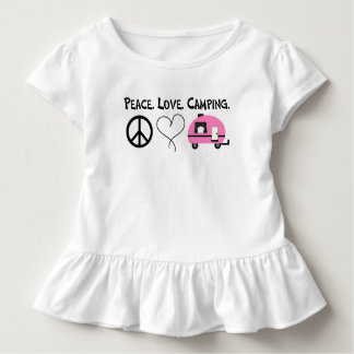 Peace Love Camping Toddler Ruffle Shirt