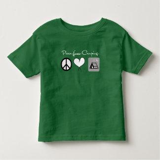 Peace Love Camping Toddler Shirts