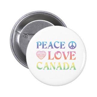 Peace Love Canada 2 Inch Round Button
