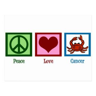 Peace Love Cancer Postcard