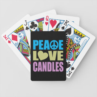 Peace Love Candles Poker Deck