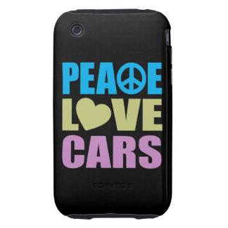 Peace Love Cars iPhone 3 Tough Case