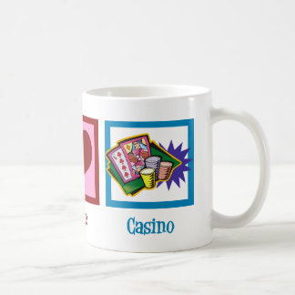 Peace Love Casino Coffee Mug