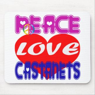 Peace Love Castanets Mousepad