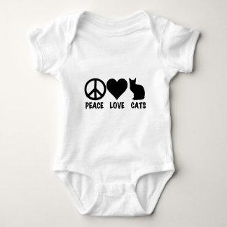 Peace Love Cats Baby Bodysuit