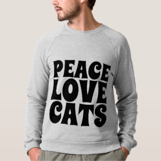 PEACE LOVE CATS, Cat Lover T-shirts