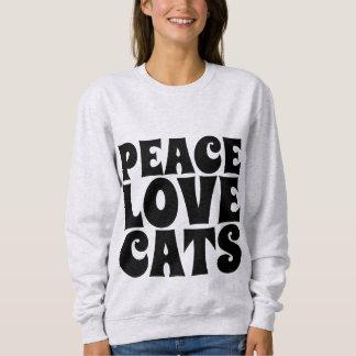 PEACE LOVE CATS, Cat t-shirts & sweatshirts