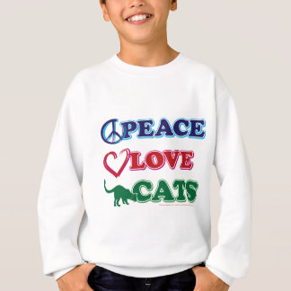 Peace-Love-Cats Sweatshirt