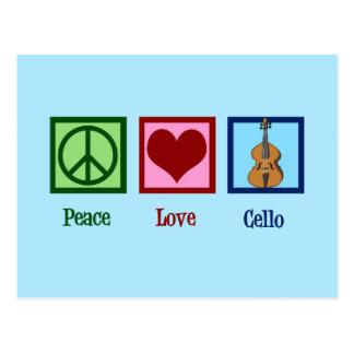 Peace Love Cello Postcard
