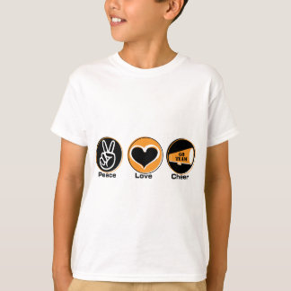 Peace Love Cheer black/orange T-Shirt