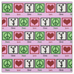 Peace Love Cheer Fabric