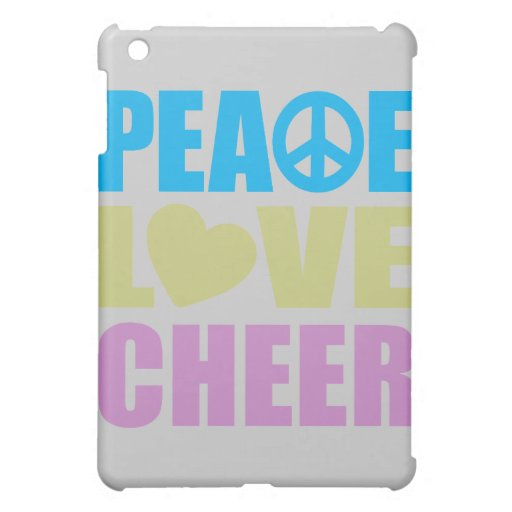 Peace Love Cheer Cover For The iPad Mini