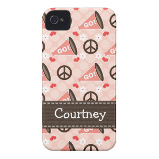 Peace Love Cheer iPhone 4 4s Case-Mate Cover