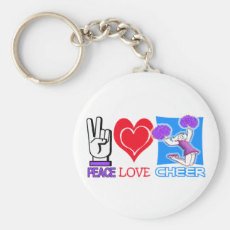 PEACE LOVE CHEER! KEYCHAIN