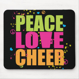Peace Love Cheer Mousepad