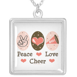 Peace Love Cheer Necklace