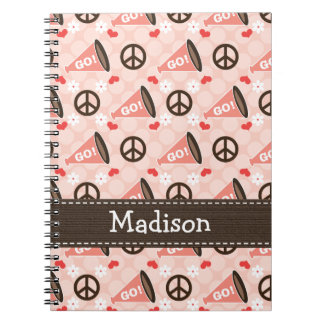 Peace Love Cheer Spiral Notebook Journal