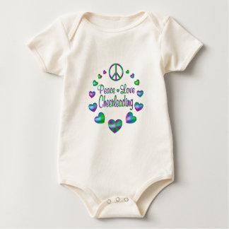 Peace Love Cheerleading Baby Bodysuit