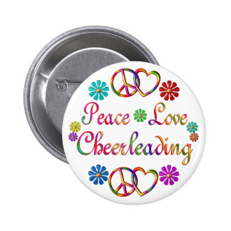 PEACE LOVE CHEERLEADING PIN